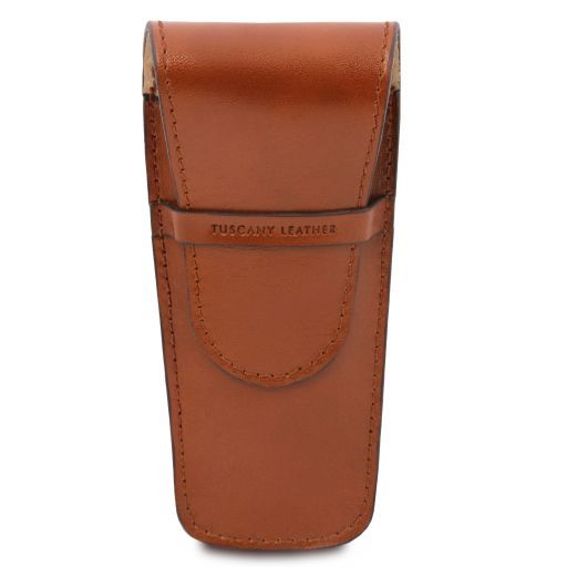 Exclusive leather 2 slots pen/watch holder Honey TL141273