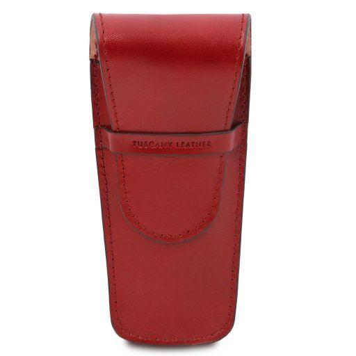 Elegante porta penne 2 posti/porta orologio in pelle Rosso TL141273