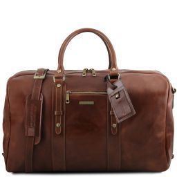 TL Voyager Leather travel bag with front pocket Коричневый TL141401