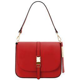 Nausica Leather shoulder bag Lipstick Red TL141598
