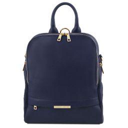 TL Bag Soft leather backpack for women Dark Blue TL141376