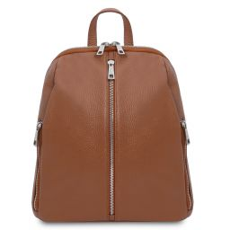 TL Bag Soft leather backpack for women Коньяк TL141982