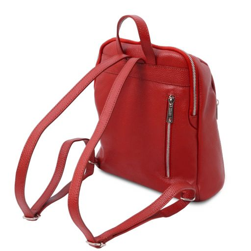 TL Bag Soft leather backpack for women Lipstick Red TL141982