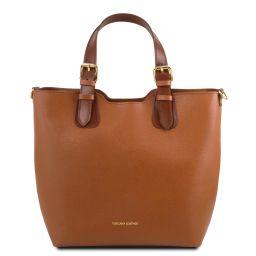 TL Bag Sac cabas en cuir Saffiano Cognac TL141696