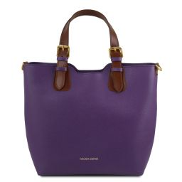 TL Bag Borsa shopping in pelle Saffiano Viola TL141696