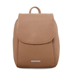 TL Bag Soft leather backpack Taupe TL141905