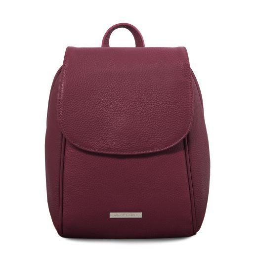 TL Bag Rucksack aus weichem Leder Bordeaux TL141905