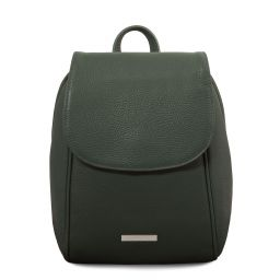 TL Bag Soft leather backpack Forest Green TL141905