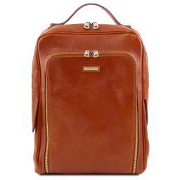 Bangkok Notebook Rucksack aus Leder Honig TL141793