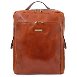 Bangkok Leather laptop backpack - Large size Honey TL141987