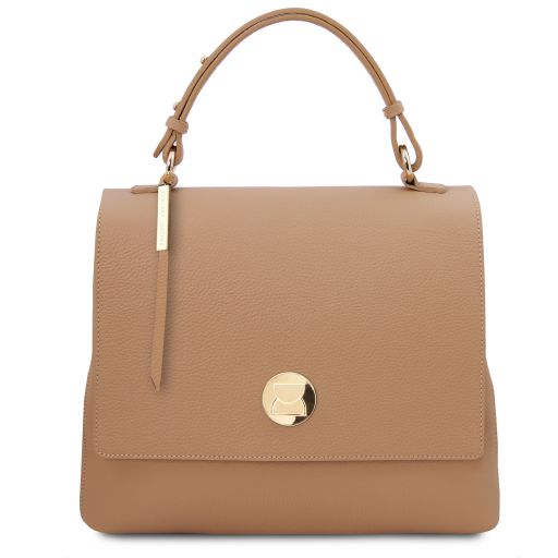 Silene Leather handbag Champagne TL141955