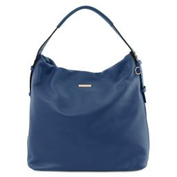 TL Bag Soft leather hobo bag Dark Blue TL141884