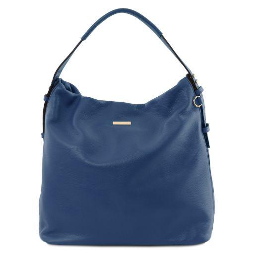 TL Bag Beuteltasche aus weichem Leder Dunkelblau TL141884