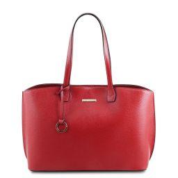 TL Bag Shopping Tasche aus Leder Lipstick Rot TL141828