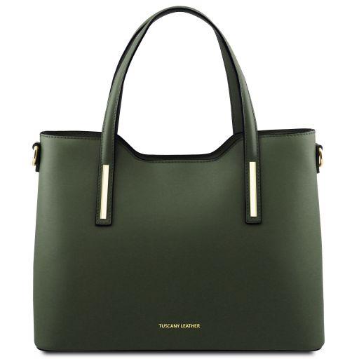 Olimpia Bolso shopping en piel Verde Oscuro TL141412