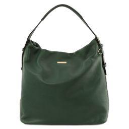 TL Bag Borsa hobo in pelle morbida Verde Foresta TL141884
