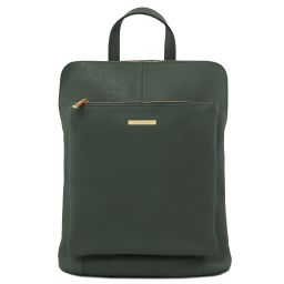 TL Bag Soft leather backpack for women Forest Green TL141682