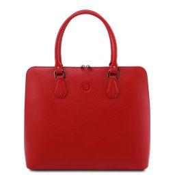 Magnolia Borsa business in pelle per donna Rosso Lipstick TL141809