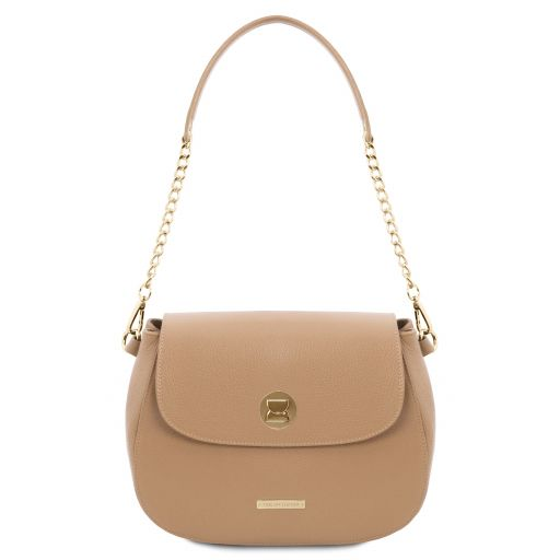Fresia Leather shoulder bag Champagne TL141956