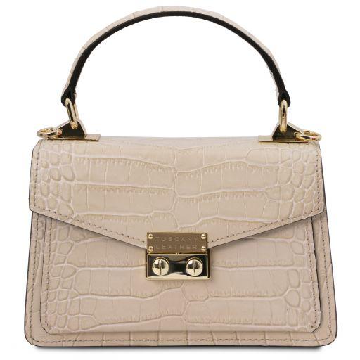 TL Bag Croc print leather mini bag Бежевый TL141995
