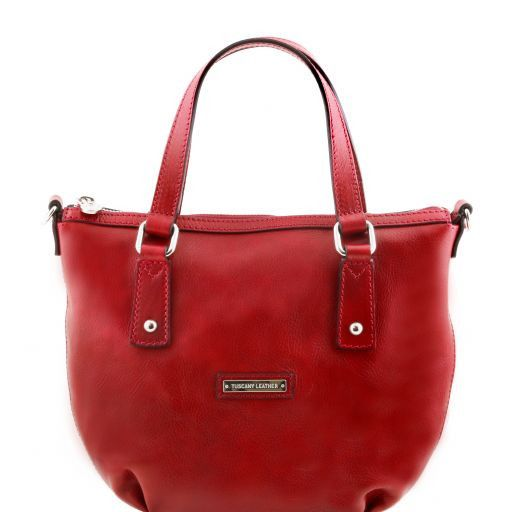 Olga Borsa shopping in pelle Rosso TL141483