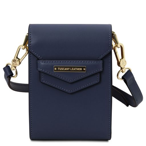 TL Bag Leather shoulder bag Dark Blue TL141996