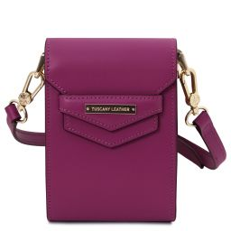 TL Bag Leather shoulder bag Purple TL141996