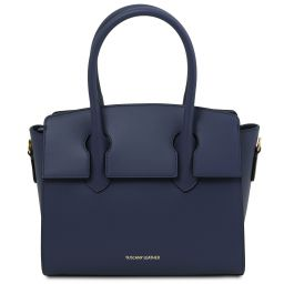 Brigid Leather handbag Dark Blue TL141943