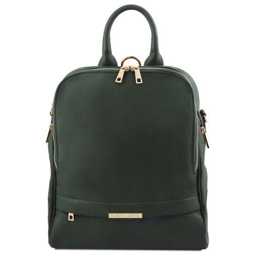TL Bag Sac à dos pour femme en cuir souple Vert Forêt TL141376
