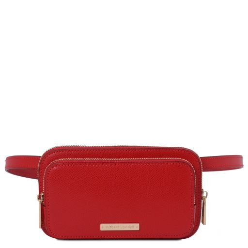 TL Bag Leather fanny pack Lipstick Red TL141999