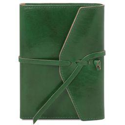 Tagebuch / Notizbuch aus Leder Tannengrün TL142027