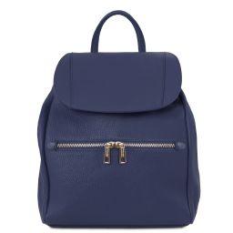 TL Bag Zaino donna in pelle morbida Blu scuro TL141697
