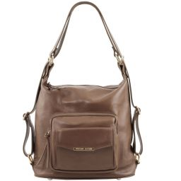 TL Bag Leather convertible bag Dark Taupe TL141535