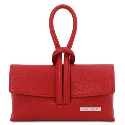 TL Bag Pochette in pelle Rosso Lipstick TL141990
