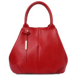TL Bag Sac à main en cuir souple Rouge Lipstick TL142005