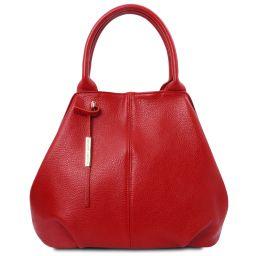 TL Bag Bolso noche en piel suave Rojo Lipstick TL142005