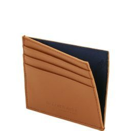 Exclusive Saffiano leather credit/business card Dark Brown TL141493