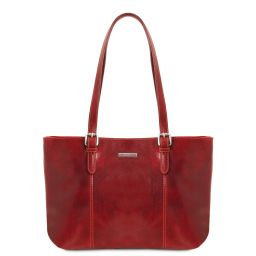 Annalisa Leather shopping bag with two handles Красный TL141710