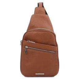 Albert Soft leather crossover bag Cognac TL142022