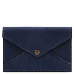 Portatarjetas de visita / de credito en piel Azul oscuro TL142036