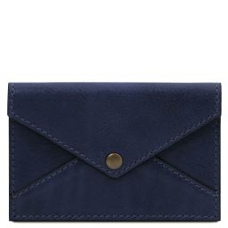 Leather business card / credit card holder Темно-синий TL142036