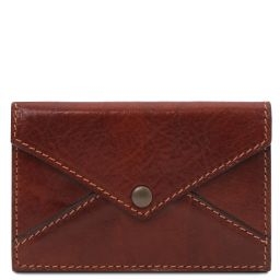 Leather business card / credit card holder Коричневый TL142036