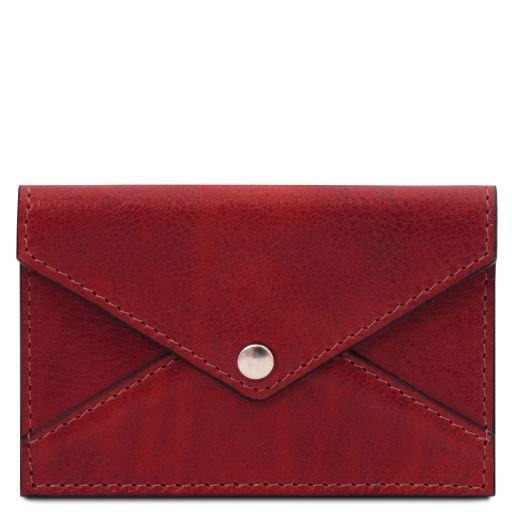 Portatarjetas de visita / de credito en piel Rojo TL142036