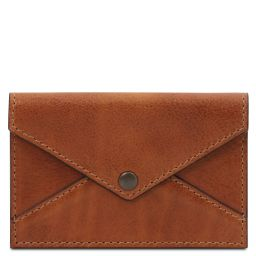 Leather business card / credit card holder Honey TL142036