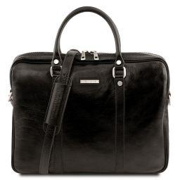 Prato Эксклюзивная кожаная сумка для ноутбука Черный TL141283