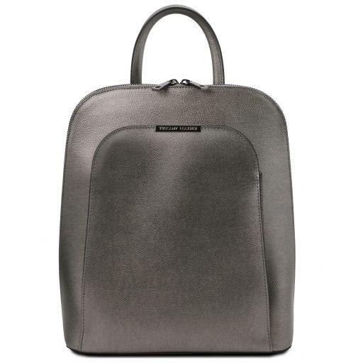 TL Bag Metallic leather backpack Iron-grey TL141645