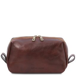 Owen Leather toilet bag Brown TL142025