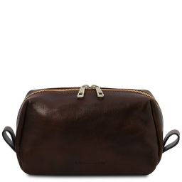 Owen Leather toilet bag Dark Brown TL142025