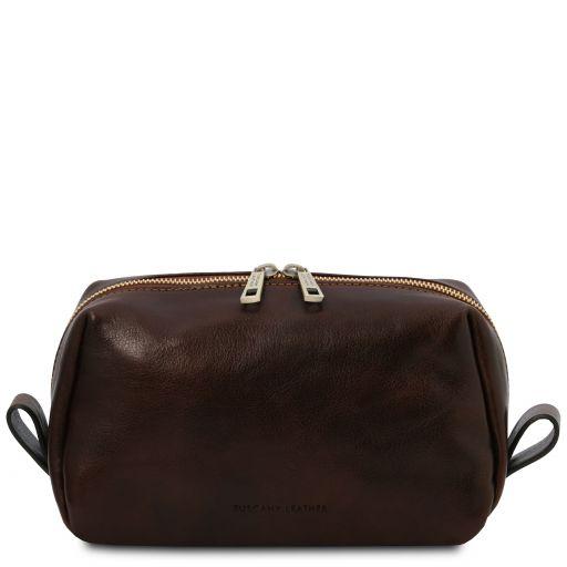 Owen Leather toilet bag Dark Brown TL142025