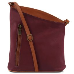 TL Bag Sac bandoulière mixte en cuir souple Bordeaux TL141111